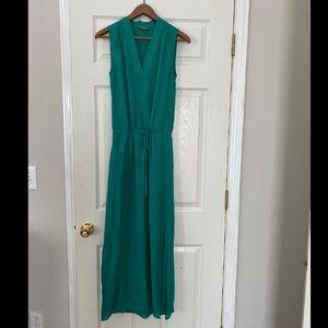 Brand new Vince 10% silk green maxi long dress xxs